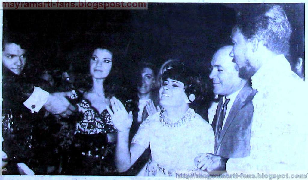 Mayra llora como ganadora del Festival, 1968
