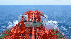 Bow Star in Indian Ocean (Gunnar the Grey) Tags: ocean sea tanker odfjell