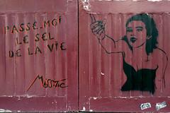 Passe moi le sel de la vie (dprezat) Tags: street urban streetart paris art painting stencil tag graf peinture aerosol bombe pochoir misstic bivre lzartsdelabivre sonyalpha700