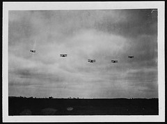 R.A.F.Scouts in France flying towards the Germ...