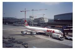 MEA Boeing 707-323C; OD-AHD@ZRH;22.07.1994 (Aero Icarus) Tags: negativescan mea boeing707 july1994 zrichkloten middleeastairlines odahd