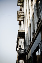 balconies without balconies (the aliens) Tags: street old city house building broken architecture town balcony neglected poland derelict lodz prewar disintegration tamron1750 nikond90 1400secatf80