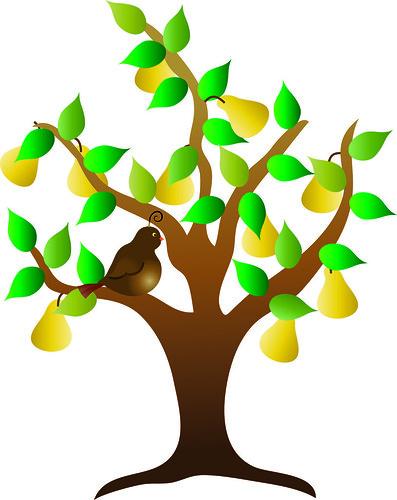 tree clip art. Clip Art Illustration of a