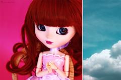 24/52 (Rinoninha) Tags: pink blue sky azul diptych doll handmade rosa cielo pullip greggia mueca amano ilea 2452 dptico ddw dollydiptychweekly obitsuarms brazosobitsu