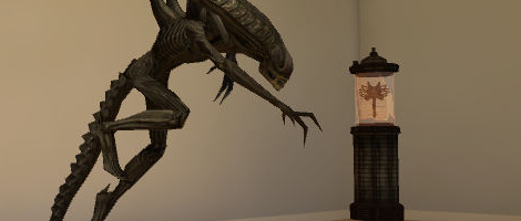 Xenomorph and Facehugger Statues - PlayStation®Home