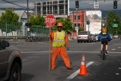 Flagger at Broadway Williams-4