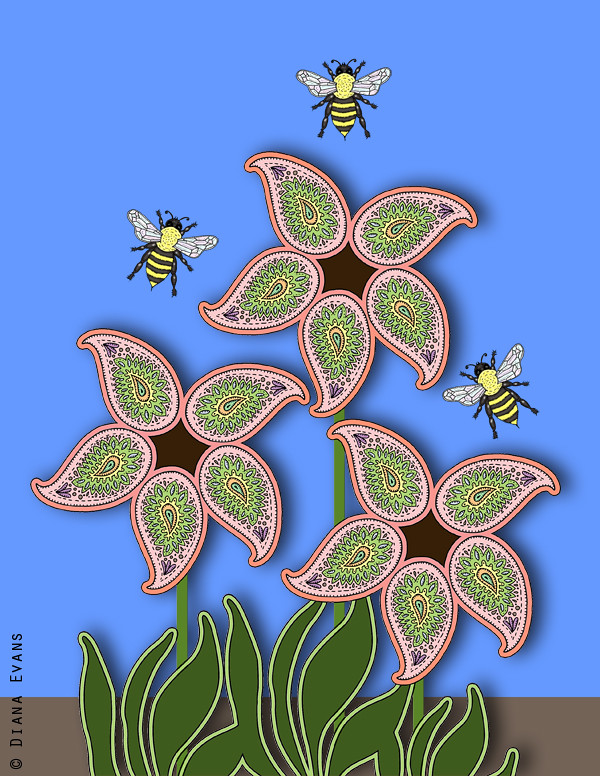 paisley blooms II