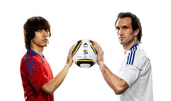South Korea VS Greece (adifansnet) Tags: france digital mexico country product publicrelations handtohand omb jabulani shotlist officialmatchball