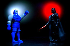 Darkseid vs. Darth Vader (171/365) (JD Hancock) Tags: reflection comics fun toy actionfigure photo dc starwars image action picture cc darth figure comicbooks duel 365 vader dccomics fathersday darthvader char sith day171 darkseid happyfathersday nogeo inkitchen jdhancock lifeonthedeathstar duel365