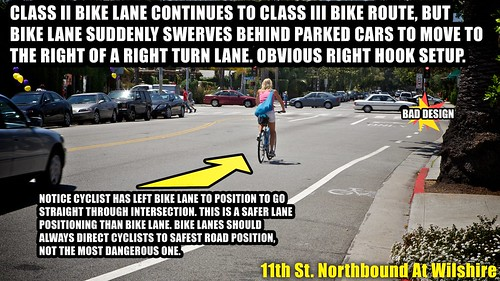 Bike Lane With Right Hook Setup