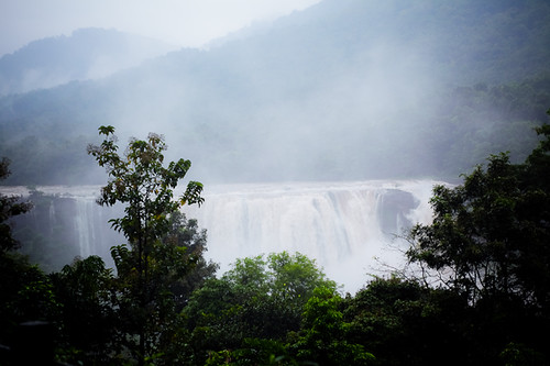 Seeing the falls from a distance, Athirapally - Chitra Aiyer Photography