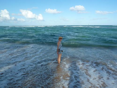 Erica at the beach