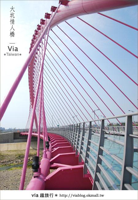 【大坑情人橋】新的台中約會景點~浪漫粉紅色情人橋6