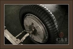 Bugatti Type 57 -S  Front Wheel (C.A.J.) Tags: classic photoshop tire brakes bugatti automoble type57