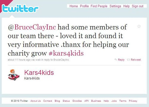 Kars4Kids Tweet, One-Day Training