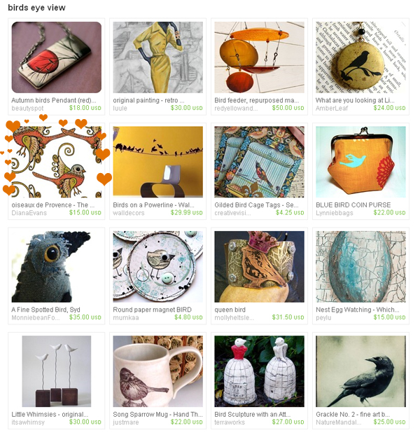 birds eye view treasury