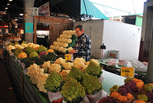 broccoli and cauliflower stall