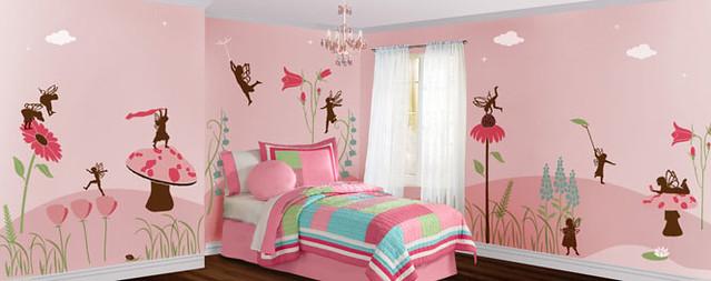 flower-fairy-mural stencils