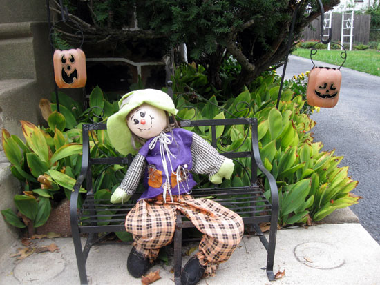 Benched Scarecrow