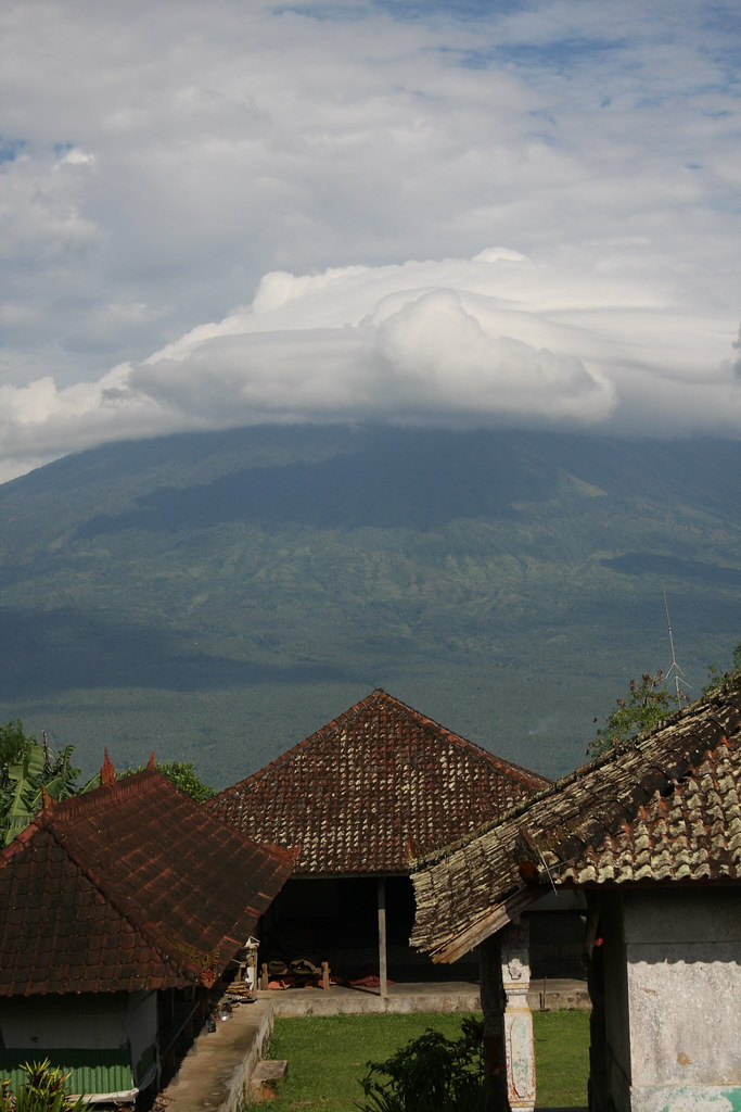 Gunung Agung in the distance, Bali