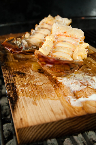 Planked Lobster with Chipotle Butter