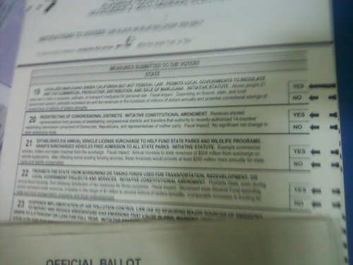5141242508 0a6cb546d8 November 2, 2010 California Election: Proposition 19, Legalization of Marijuana