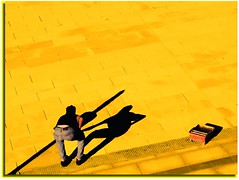 La pendenza (meghimeg(temporarily disconnected)) Tags: shadow sun yellow ombra explore tiles sole frontpage piastrelle cantiere 2011 savona abigfave