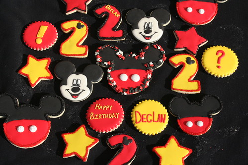 Mickey Mouse themed cookies