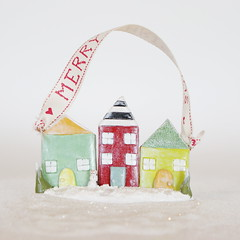 dwelling ornament (jessicajane.love) Tags: christmas decorations red white house black cute green home miniature gnome colorful aqua handmade ooak cottage ornament cupcake clay etsy whimsical dwelling polymer petitehouse