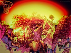 Hoop Dreams (JDS Fine Art Photography) Tags: art artistic colors basketball sports competition hoops pickupgame urban intensity game