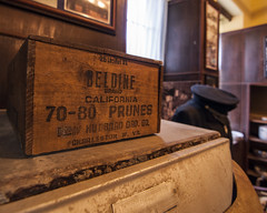 Prunes (trainmann1) Tags: transalleghenylunaticasylum lunaticasylum asylum westonstatehospital statehospital hospital insane weston wv westvirginia summer 2017 june nikon d90 tokina 1116mm amateur handheld inside interior creepy old antique vintage wood wooden woodcrate crate prunes charlestonwv charleston museum