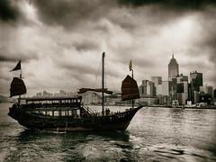 Hong Kong Past, Present and Future (Feldore) Tags: hongkong junk vintage aqualuna sailing water old feldore mchugh em1 olympus 1240mm ship boat traditional