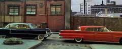 Cadillac Lincoln NY (gpholtz) Tags: diorama miniatures 118 diecast 1958 continental markiii 1955 cadillac fleetwood brougham