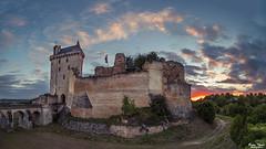 Coucher de soleil (Bruno. Thomé) Tags: pentaxk1 irix15mmf24 chinon chateau forteresse coucherdesoleil france indreetloire