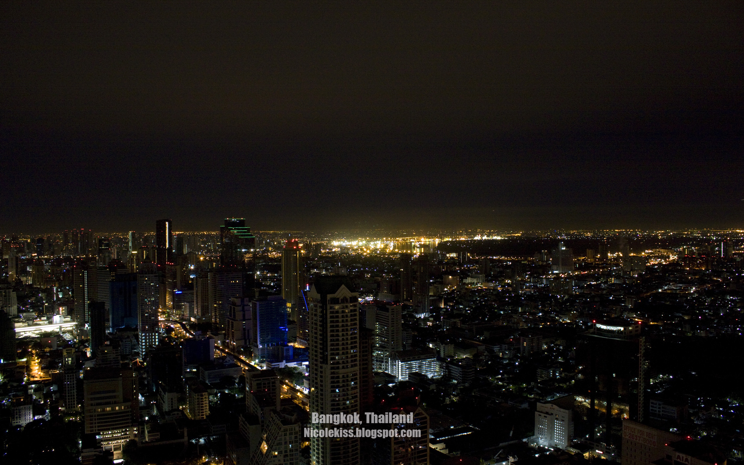 Bangkok Night Scene Wallpapers Nicolekiss Travel Lifestyle Blogger