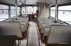 Inside a brand new Metrobus, 1989 (Lady Wulfrun) Tags: new travel interior transport delivery 1989 westmidlands walsall metrobus mcw 3099 wmt lowersaloon 28thnovember1989 newlydelivered