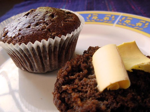 chocolate orange muffins
