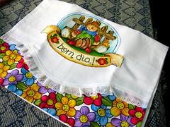 Para um dia mais alegre e colorido (Honorita) Tags: pintura tecido espantalho abobora