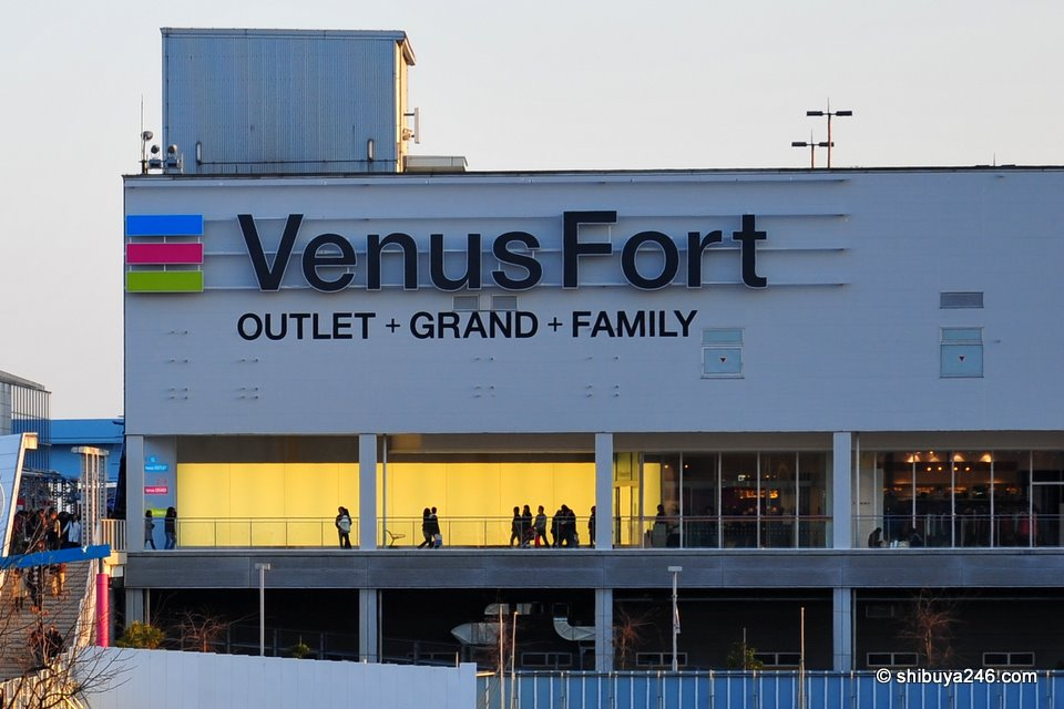Venus Fort has changed itself into Tokyo's first outlet shopping mall. With the easy train access it should be a popular destination for shoppers.