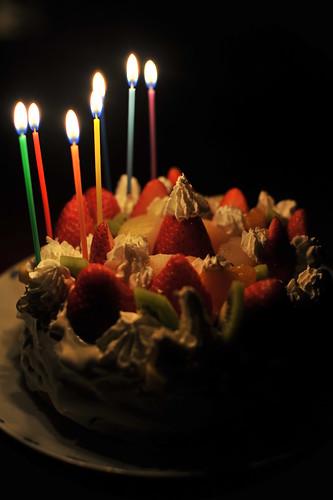 38歳誕生日(1日前だけど)にケーキキャンドル