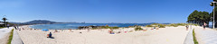 A vast panorama of the Samil beach, Vigo | Panorama Plaży Samil