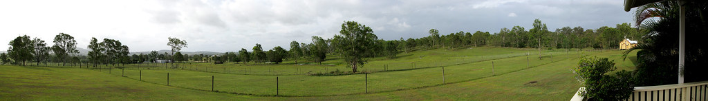 rainy day farm pano