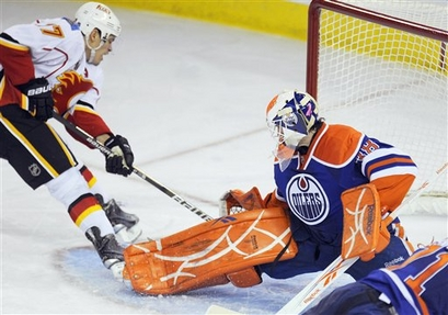 Flames Oilers Hockey