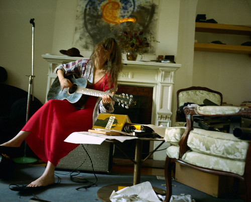 Patti And Her Guitar. Chelsea Hotel, New York, NY. 1996. By