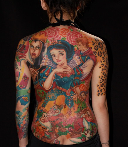 Night Action tattoo -model Singapore Tat2 Show Best back piece-non oriental