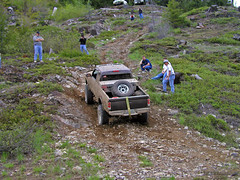 Redneck Mountain Climbing #1 (Trystian Sky) Tags: mountain truck offroad 4x4 hill olympus offroading c4040 cleelumlake c4040z olympus4040z 4040z olympus4040zoom