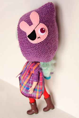MforM Violet Pirate Bunny Hoodie