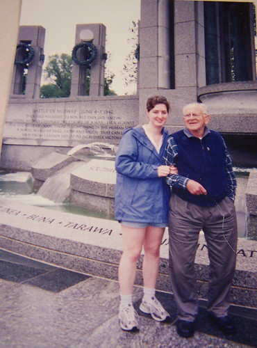 Me & Grandpa at the WWII Memorial - 2004