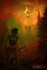megan's fire (Kris Kros) Tags: woman moon mist sexy art film girl beautiful beauty birds misty fog lady night digital photoshop movie poster fire evening amazon war fighter action smoke dream prince manipulation battle scene tribal crescent adventure fantasy sword land kris warrior clan deviantart epic megans kkg cs4 deviantartcom kros kriskros flickrsbest abigfave tambukta kkgallery