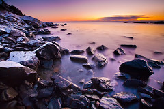 Oarweed Cove Sunrise (chris lazzery) Tags: longexposure winter sunrise maine 5d ogunquit canonef1740mmf4l bw30nd